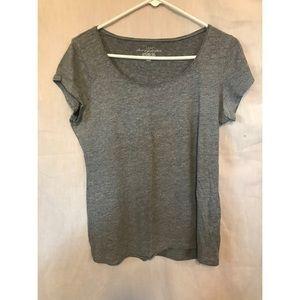 grey shirt sleeve